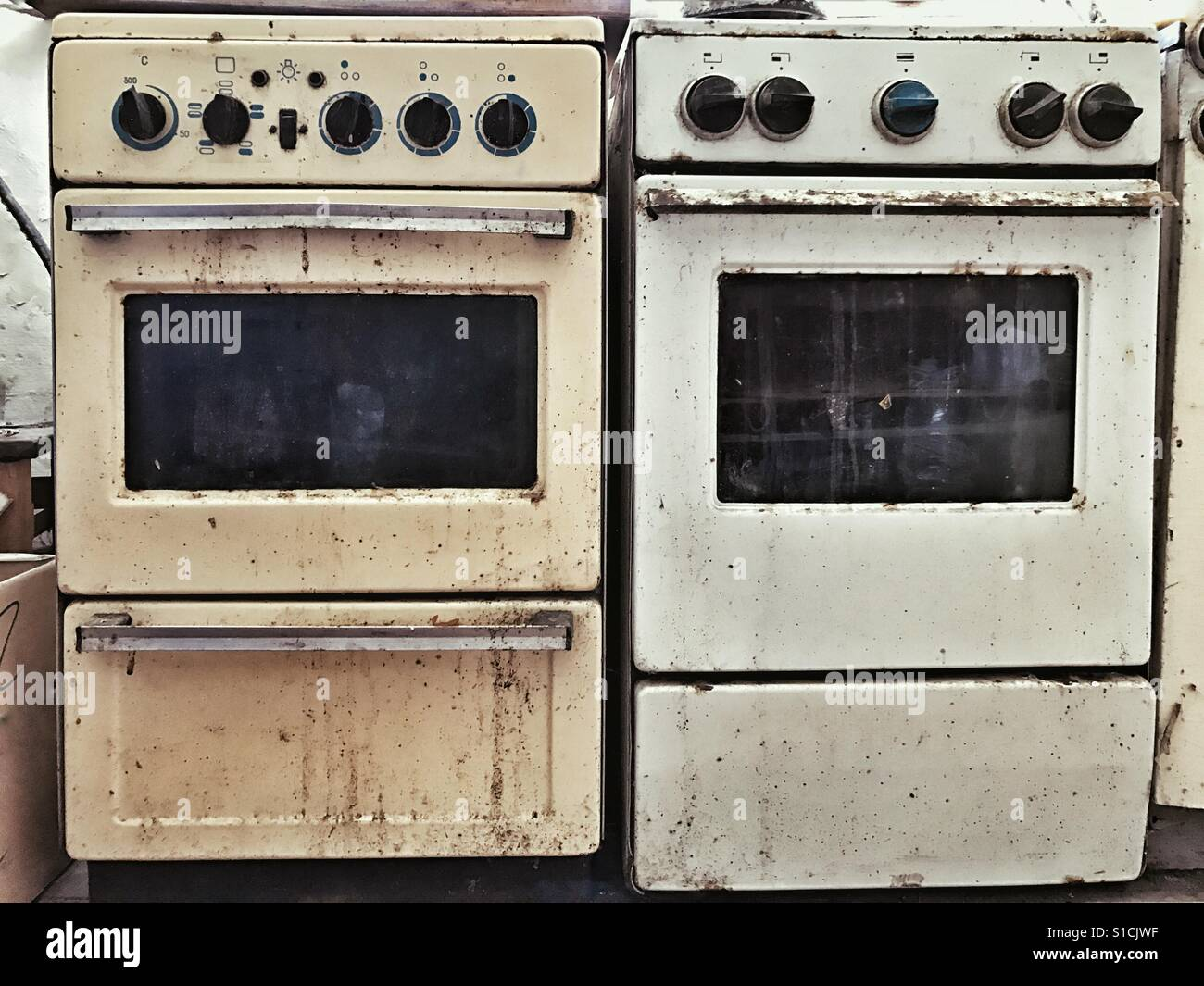 Old gas stoves Stock Photo