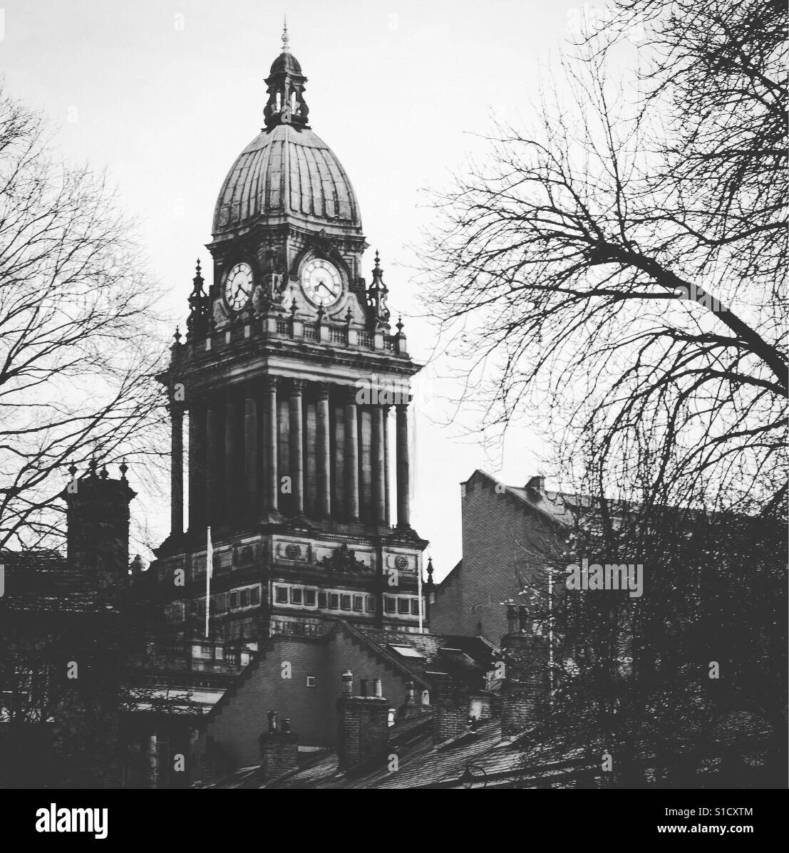 Leeds Town Hall. - Stock Image