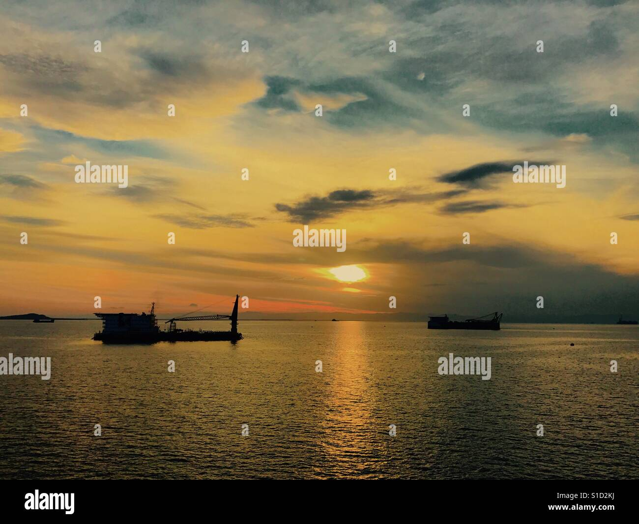 Brunei Bay, Labuan Anchorage - Stock Image