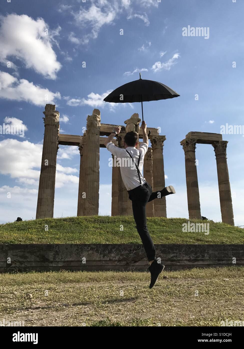 Columns of Olympian Zeus Greece - Stock Image