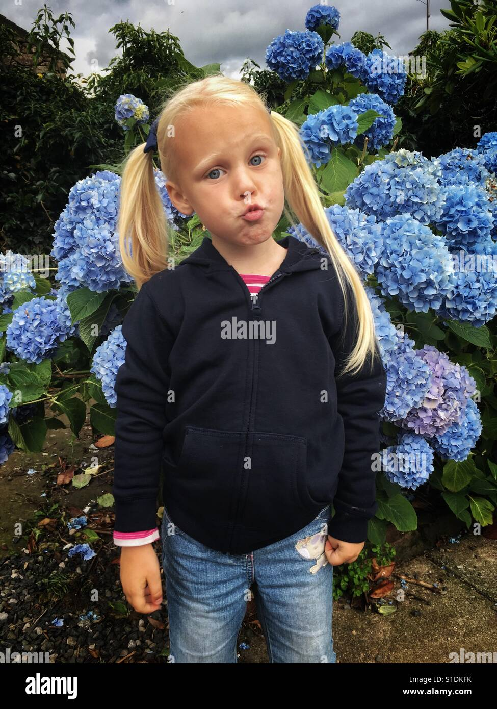 Blonde four year old girl