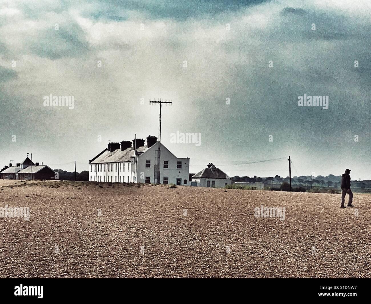 Shingle Street Suffolk England - Stock Image