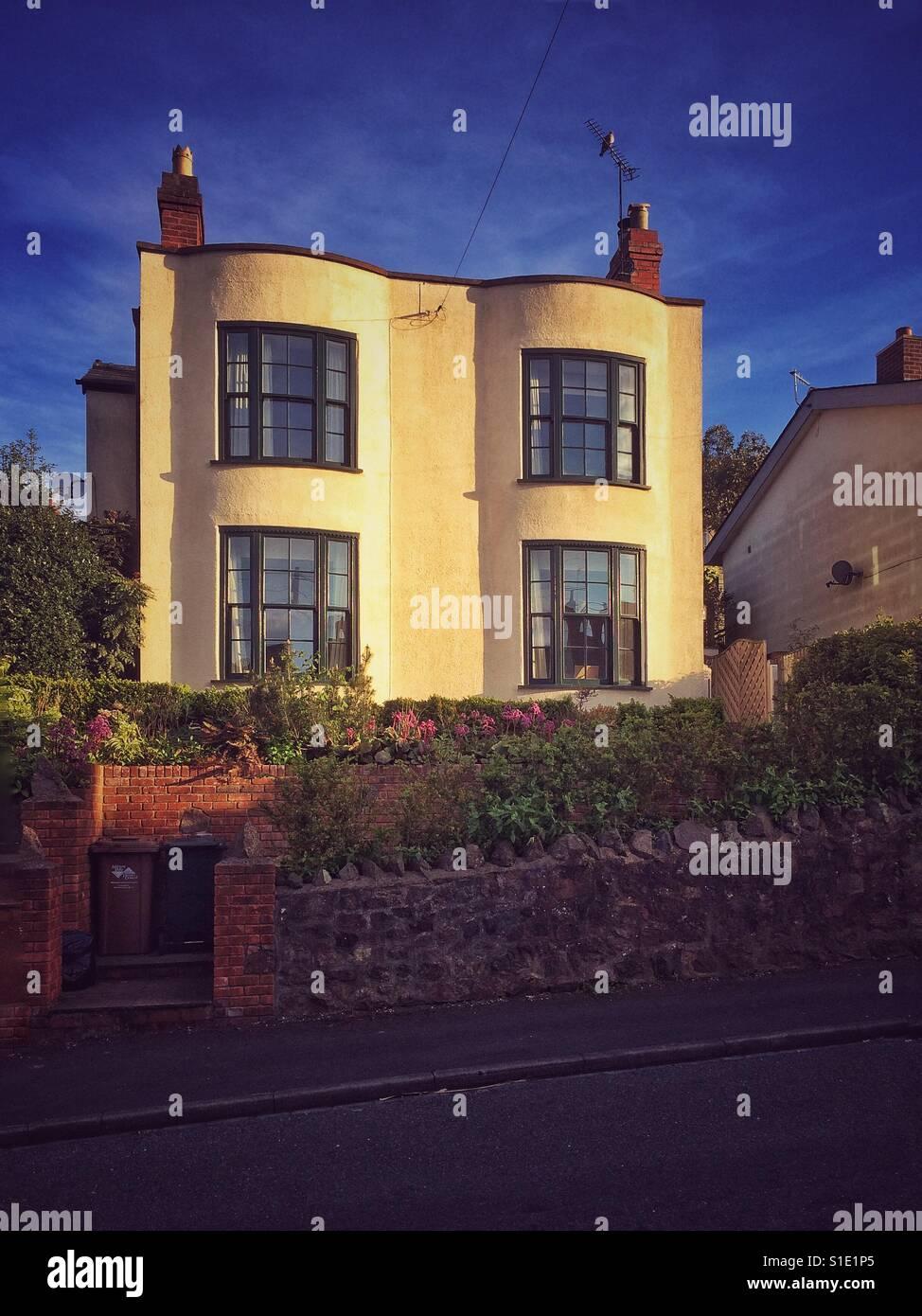 1930s style house in Malvern UK - Stock Image