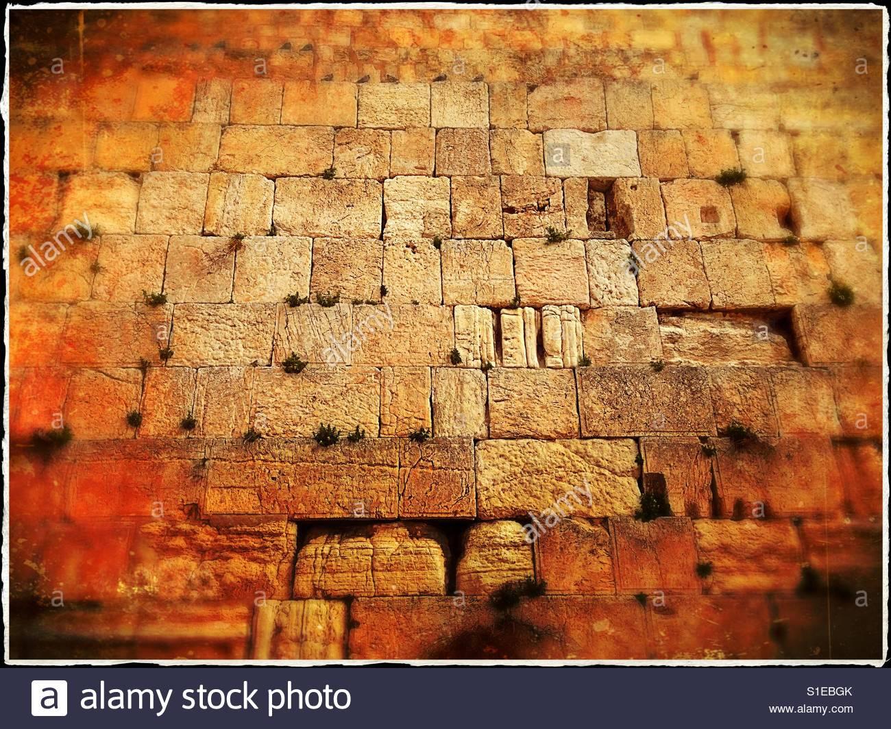 The Wailing Wall. Jerusalem, Israel. - Stock Image