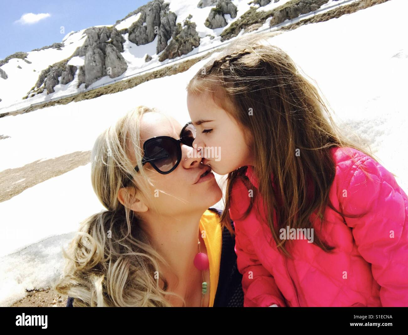 Mommy with daughter - Stock Image