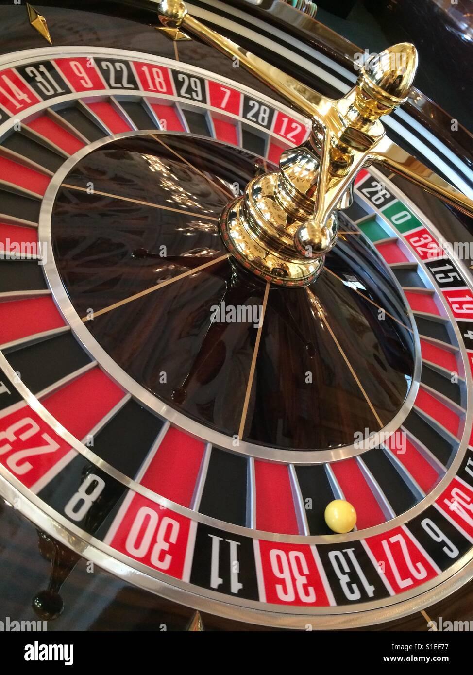 Roulette wheel - Stock Image