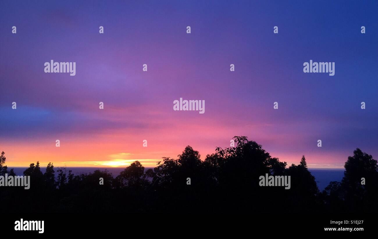 Afterglow Horizon - Stock Image