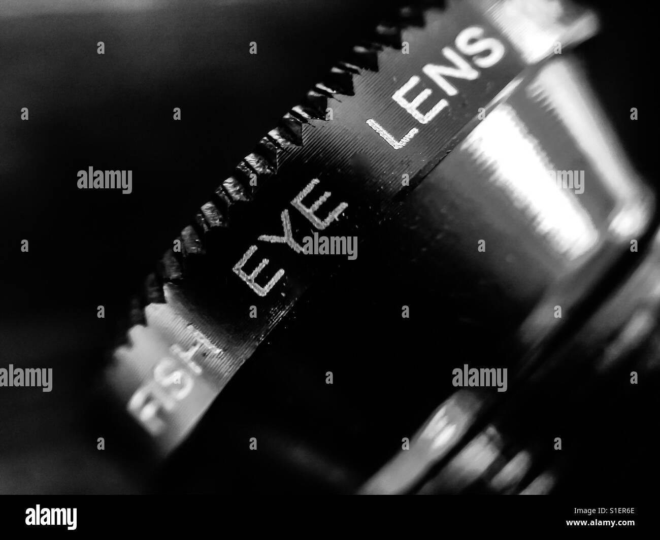 Fisheye lens for smart phone - Stock Image