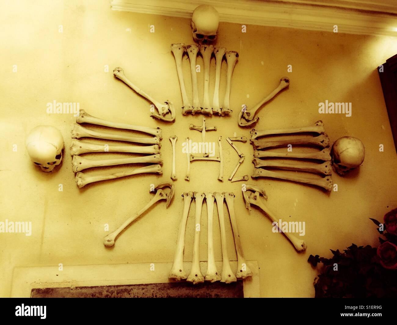 Bone Church in Kutna Hora - edited 2 - Stock Image