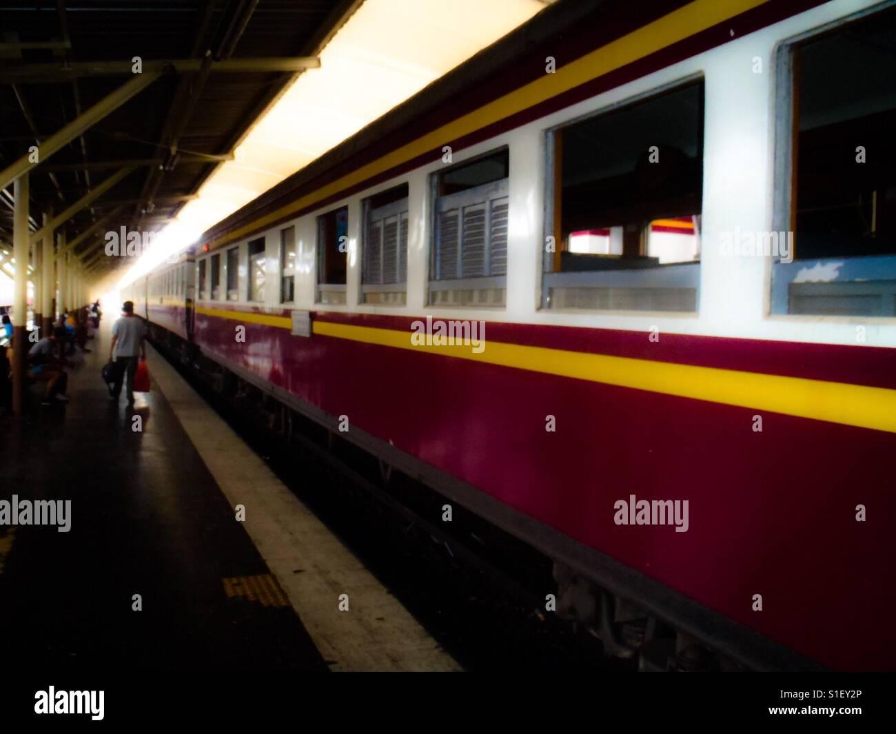Underground in Thailand - edited, filter - Stock Image