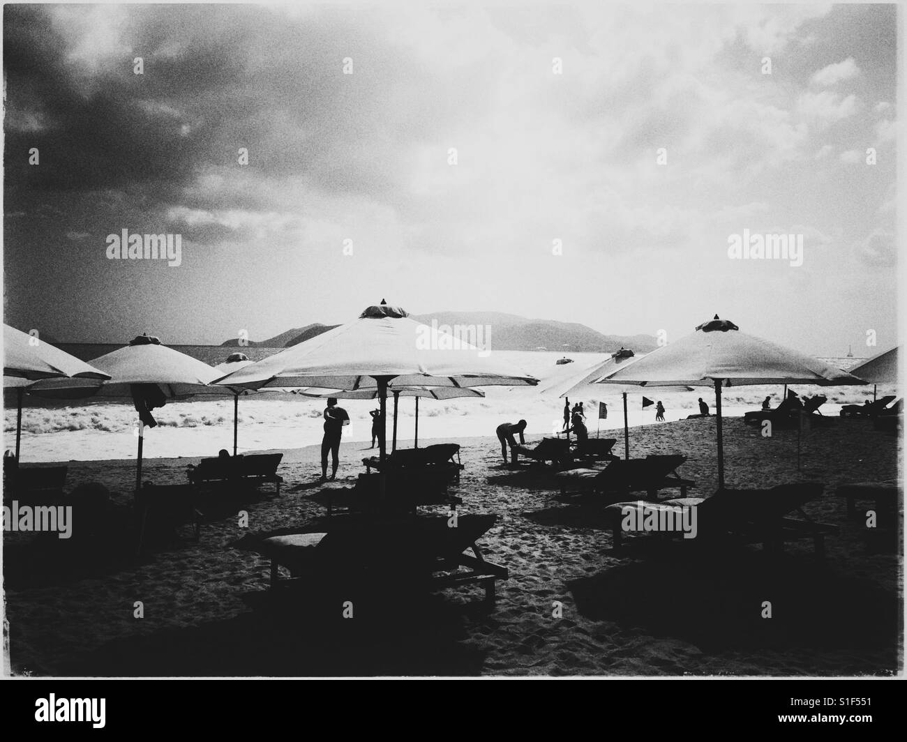 Nha trang beach line. - Stock Image