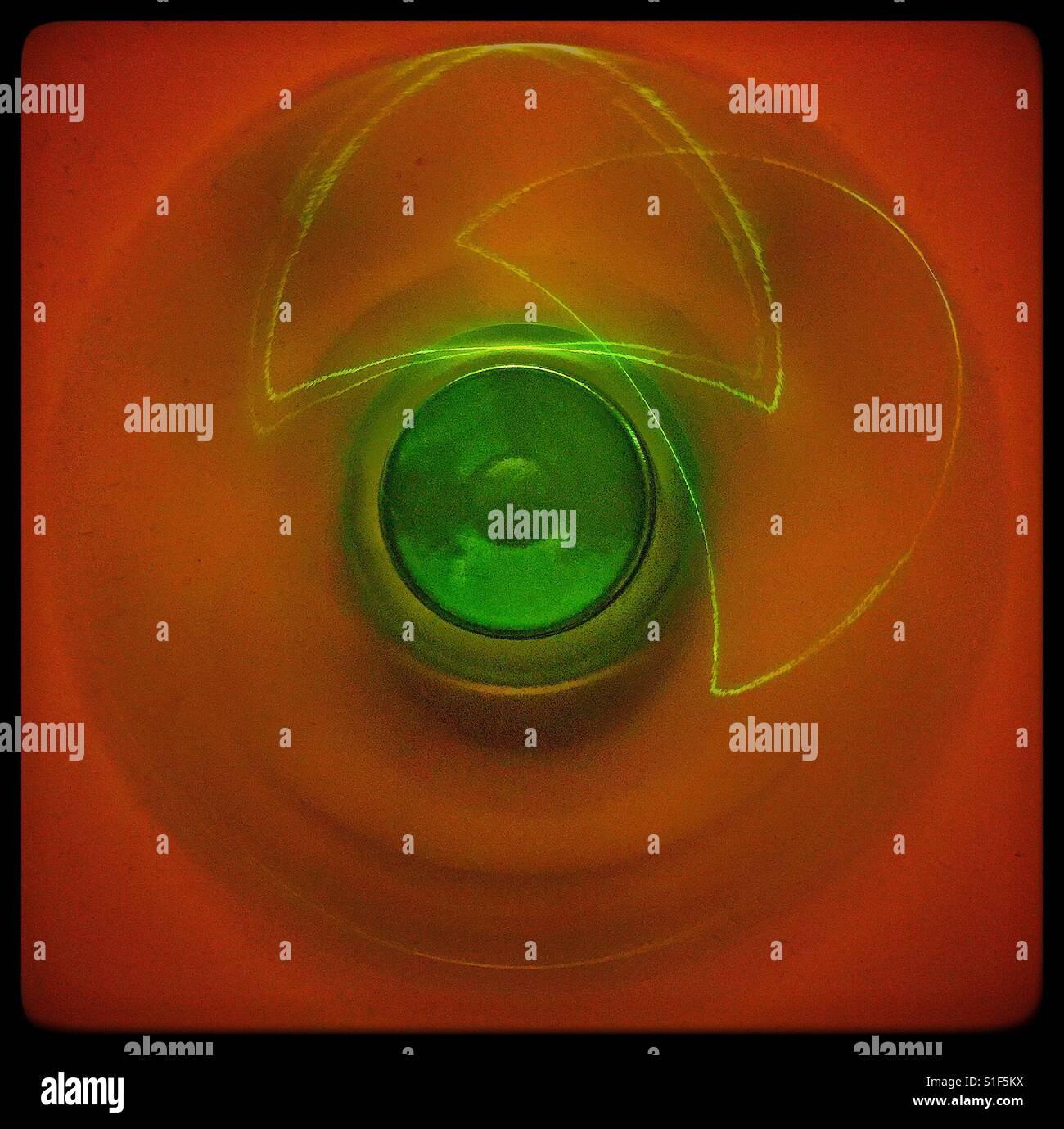 Spinning fidget spinner - Stock Image