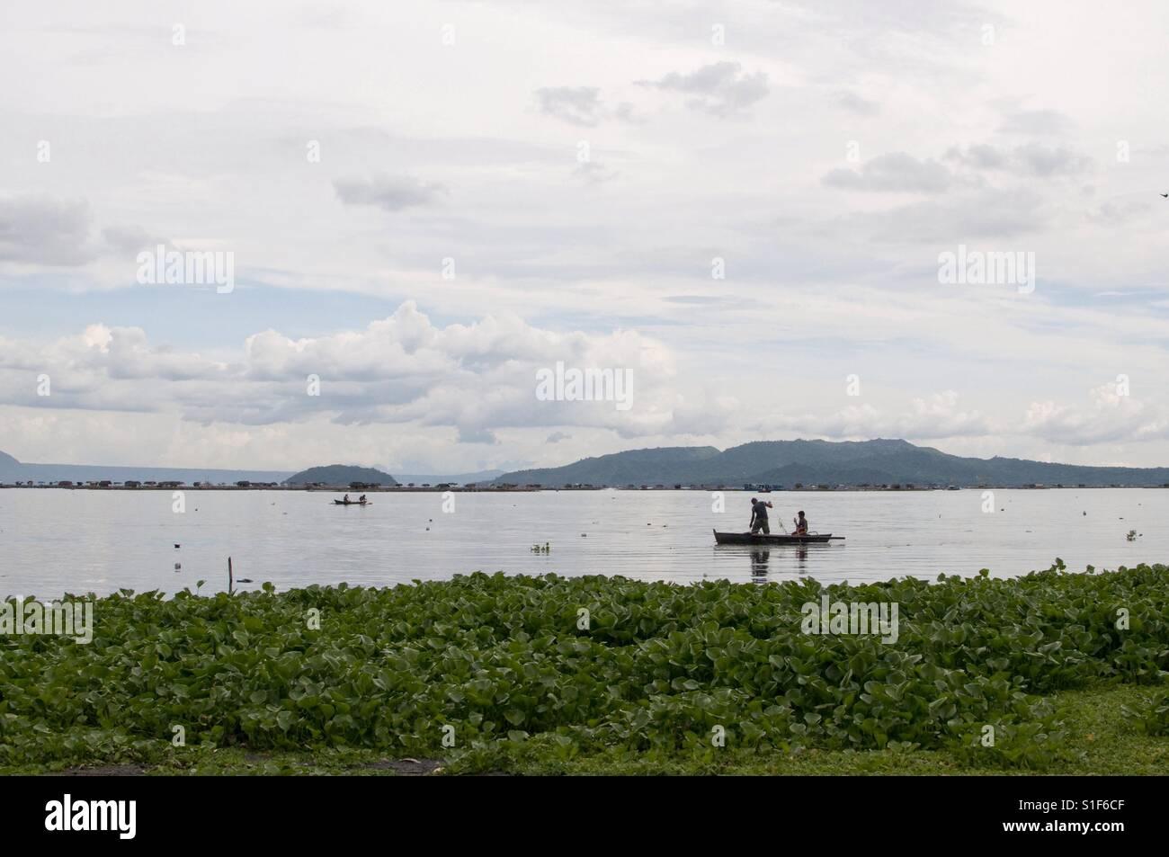Lake fishing Stock Photo