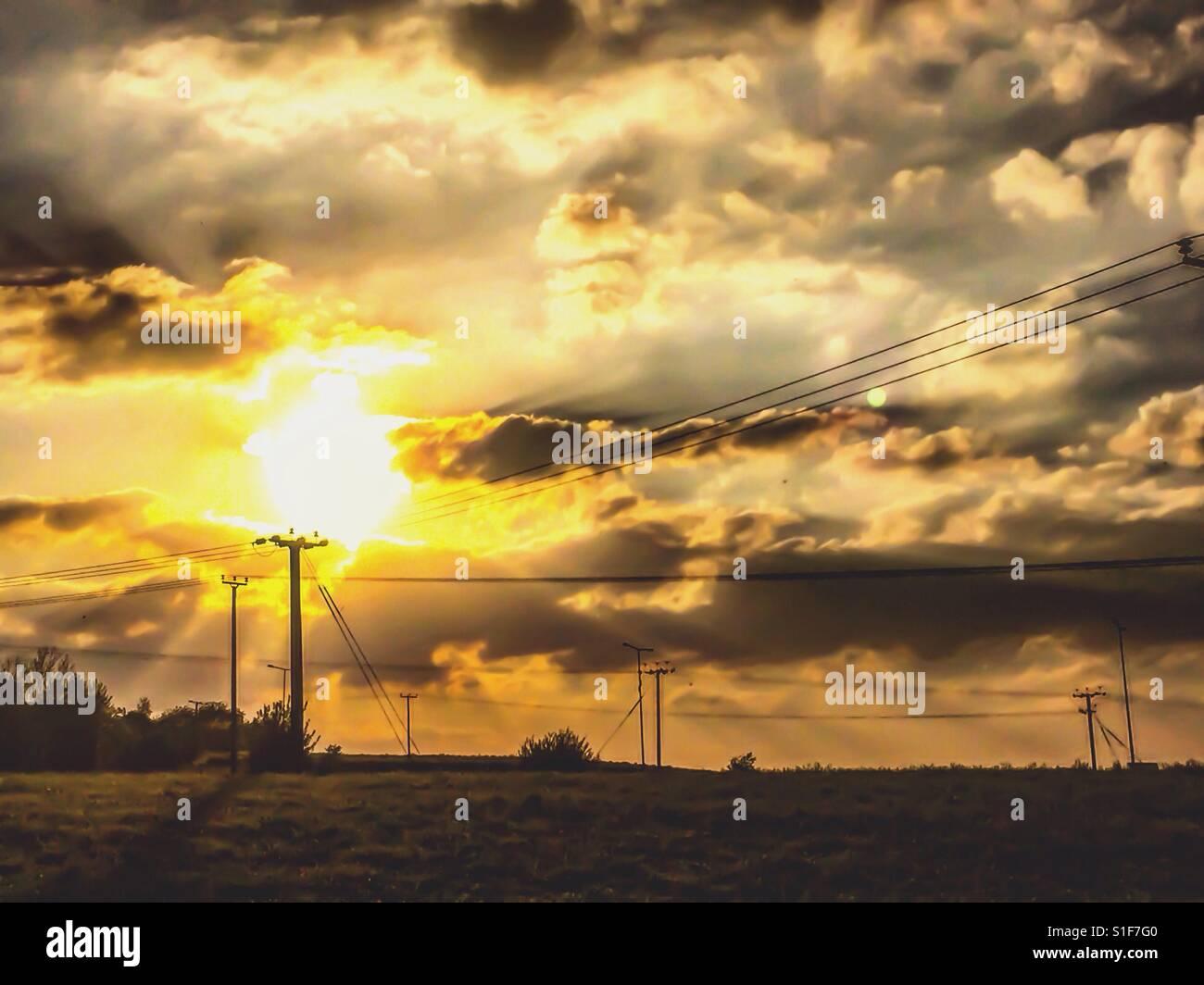 Sun down - Stock Image