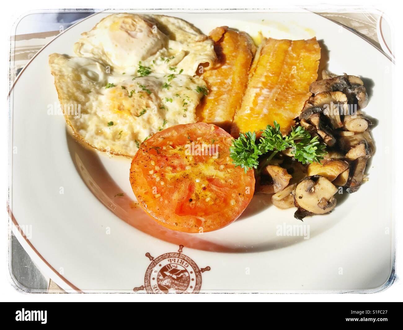 Kipper breakfast. - Stock Image