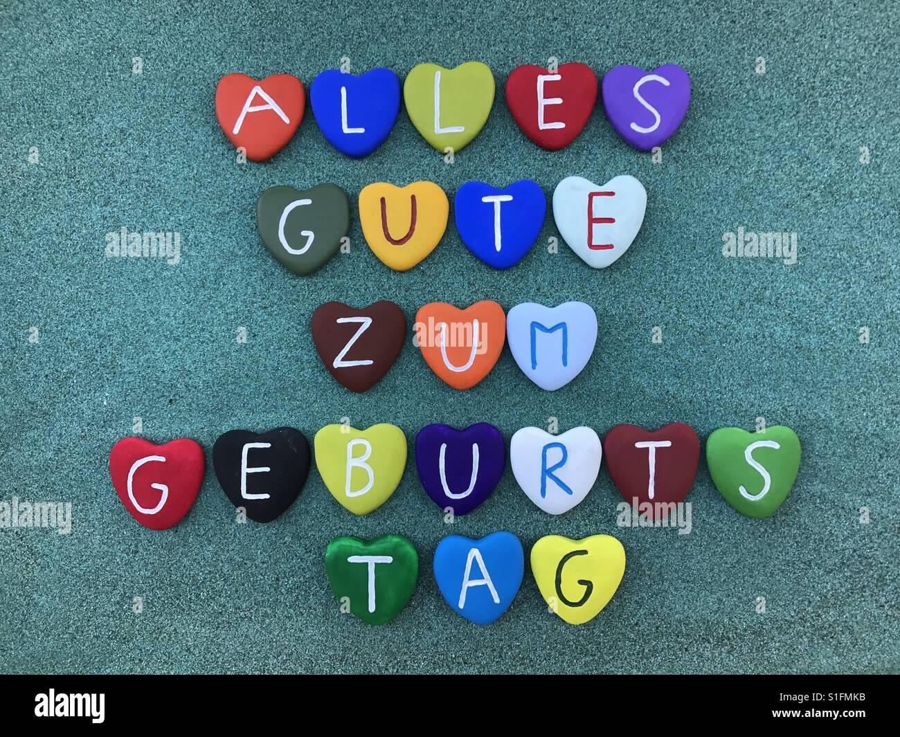Alles Gute zum Geburtstag, Happy Birthday in german language