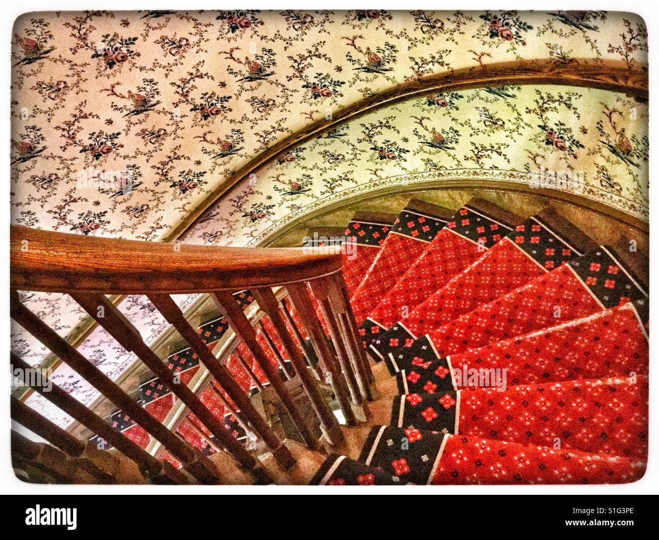 Victorian Spiral Staircase Stock Photo: 310755494   Alamy