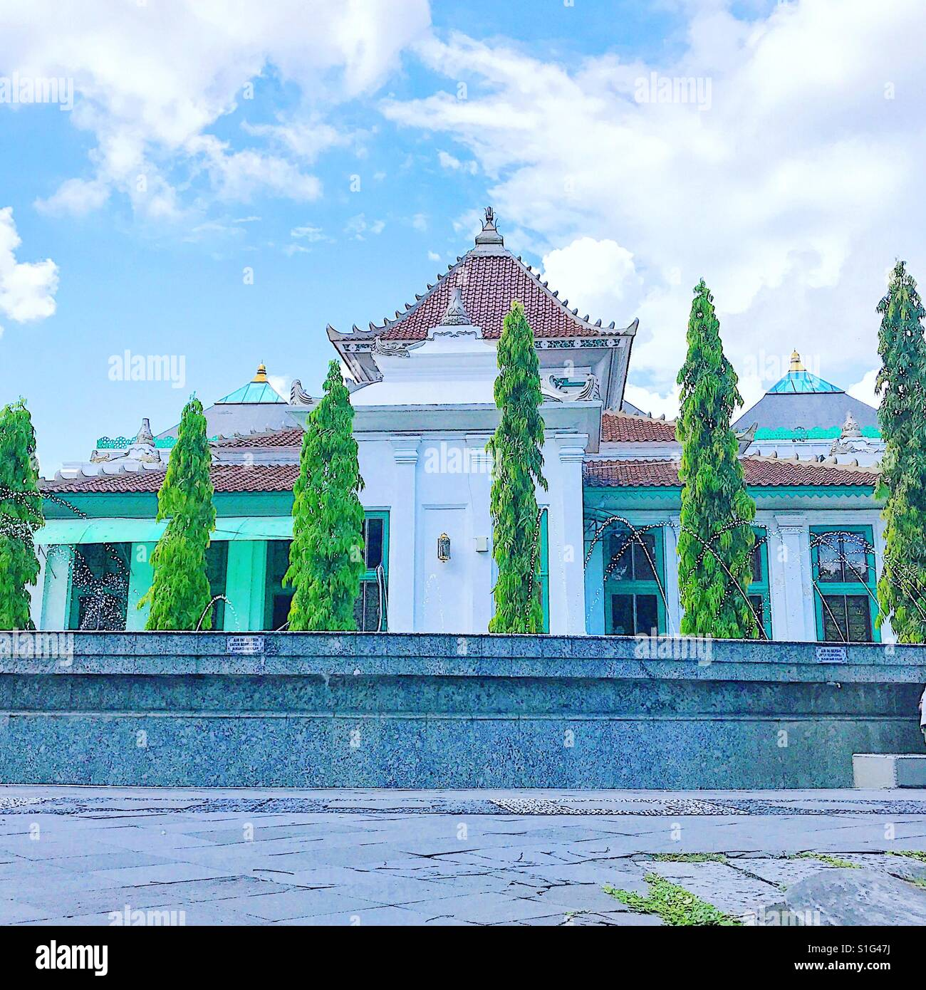 The great mosque at Palembang, Indonesia - Stock Image