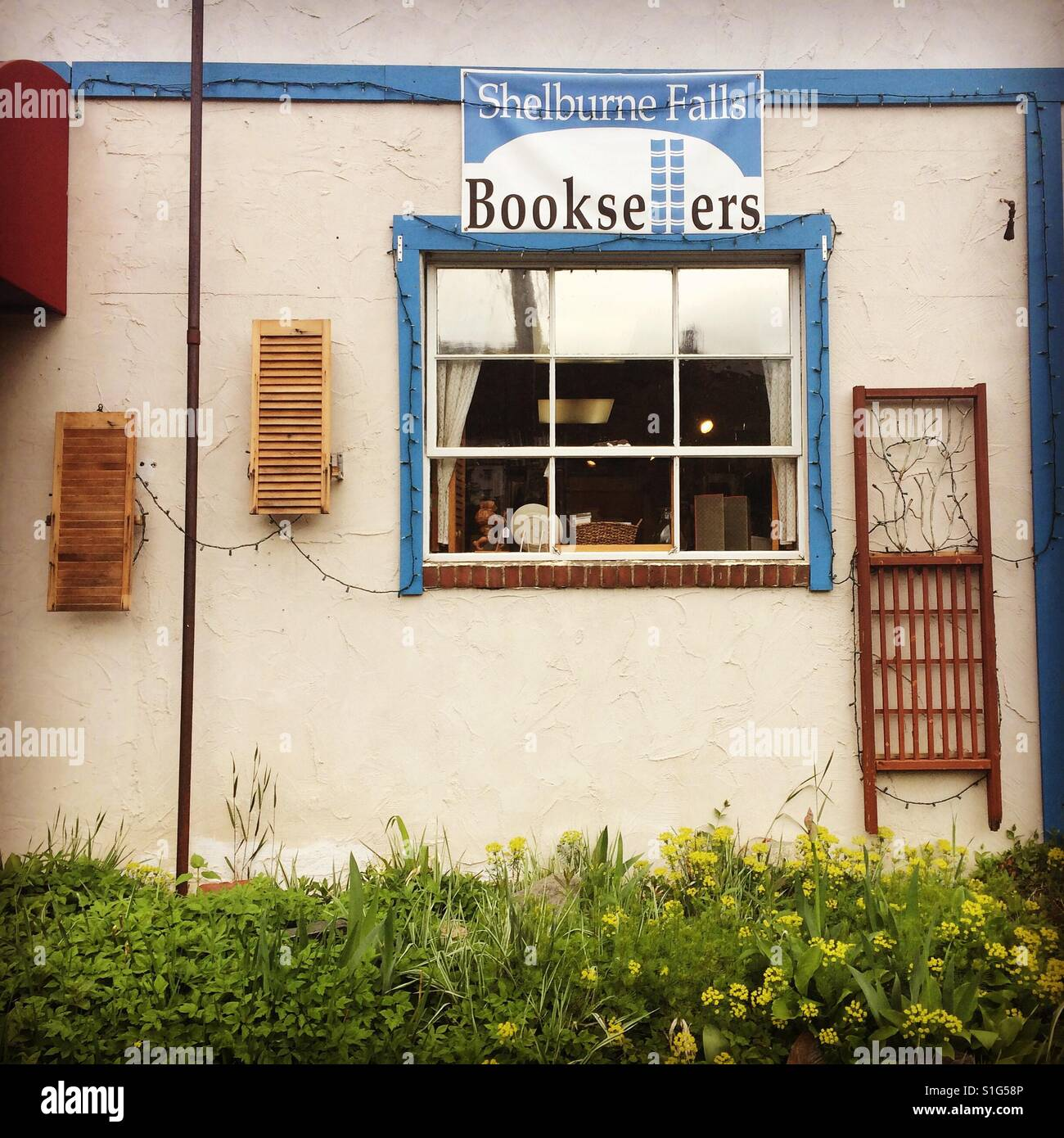 Shelburne Falls Booksellers, Shelburne Falls, Massachusetts - Stock Image