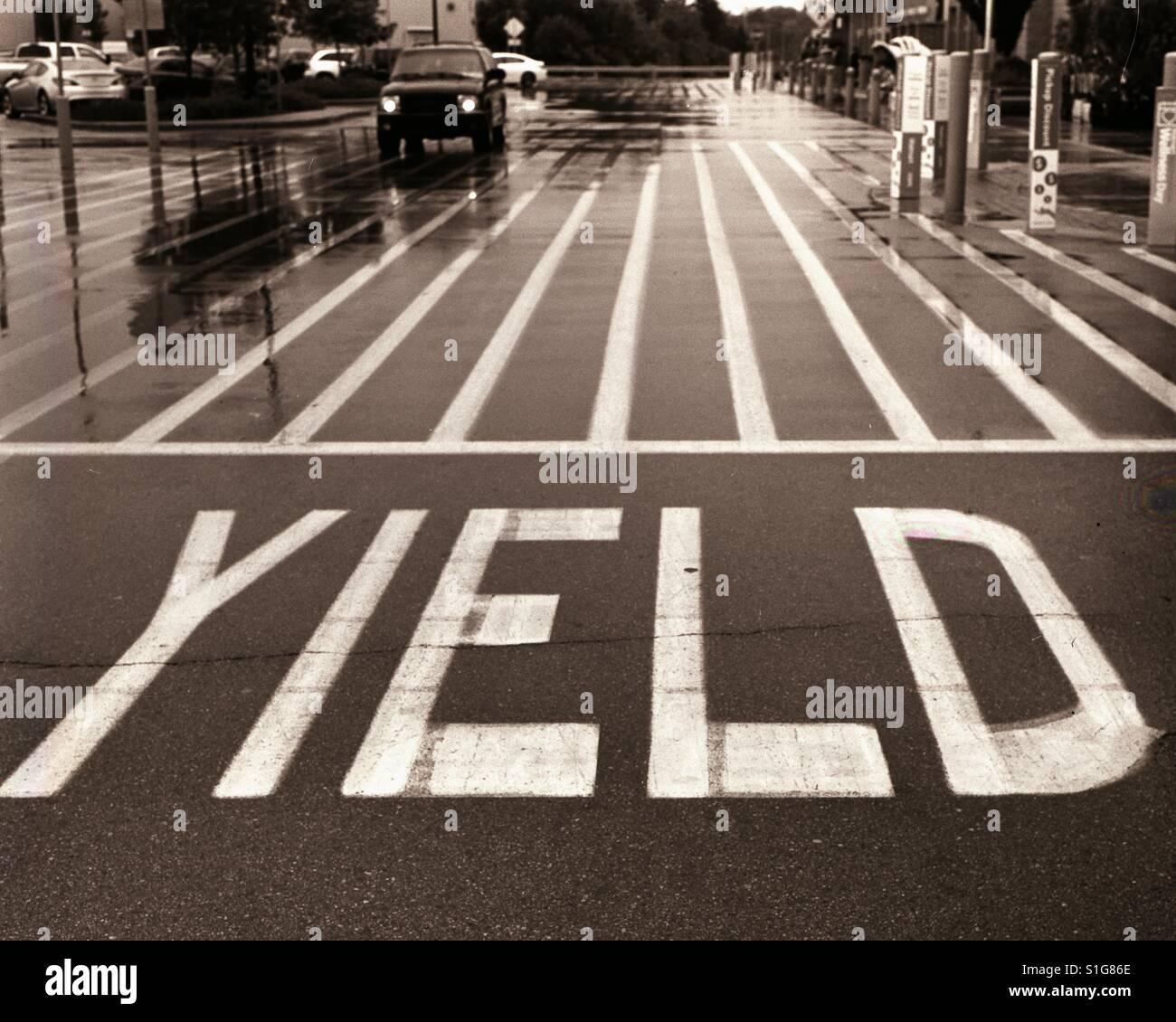 Yield - Stock Image