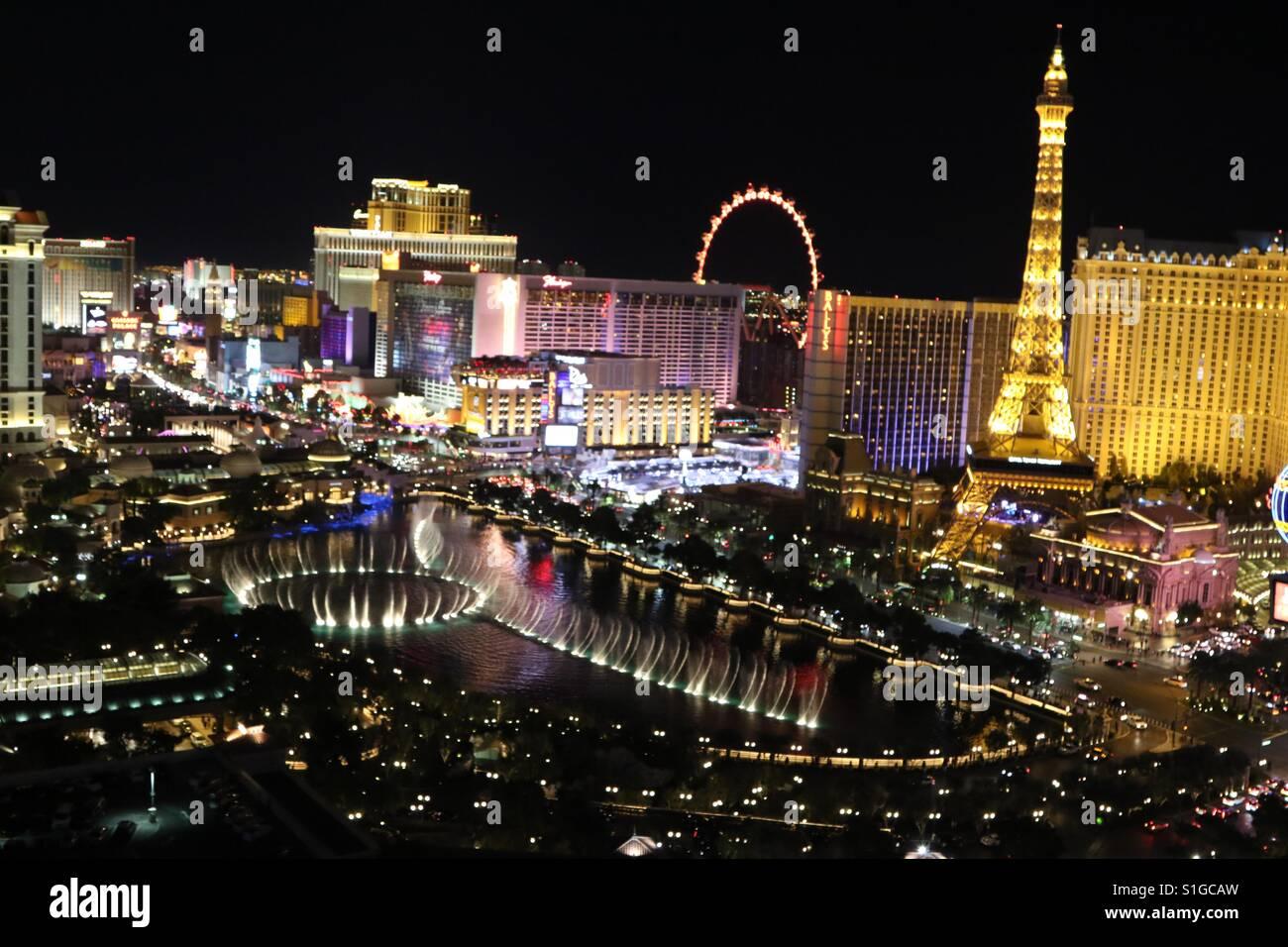 View From Cosmopolitan Hotel Las Vegas Stock Photo