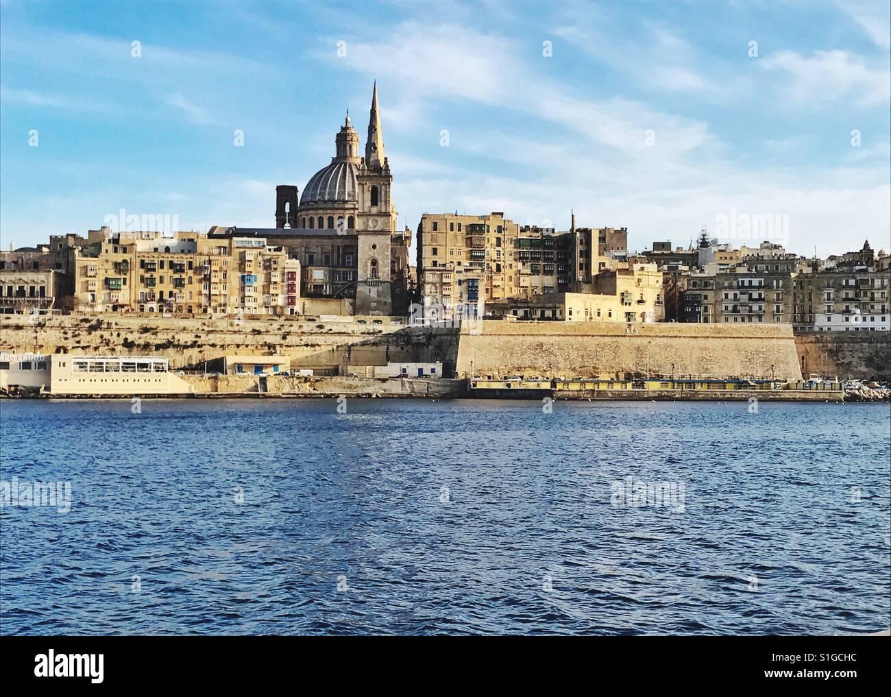 Valletta Malta - Stock Image