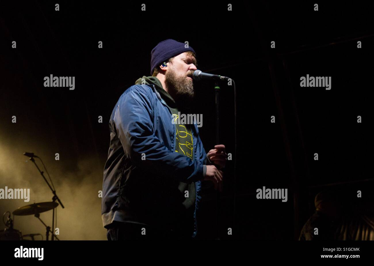 John grant playing at the end of the road festival - Stock Image