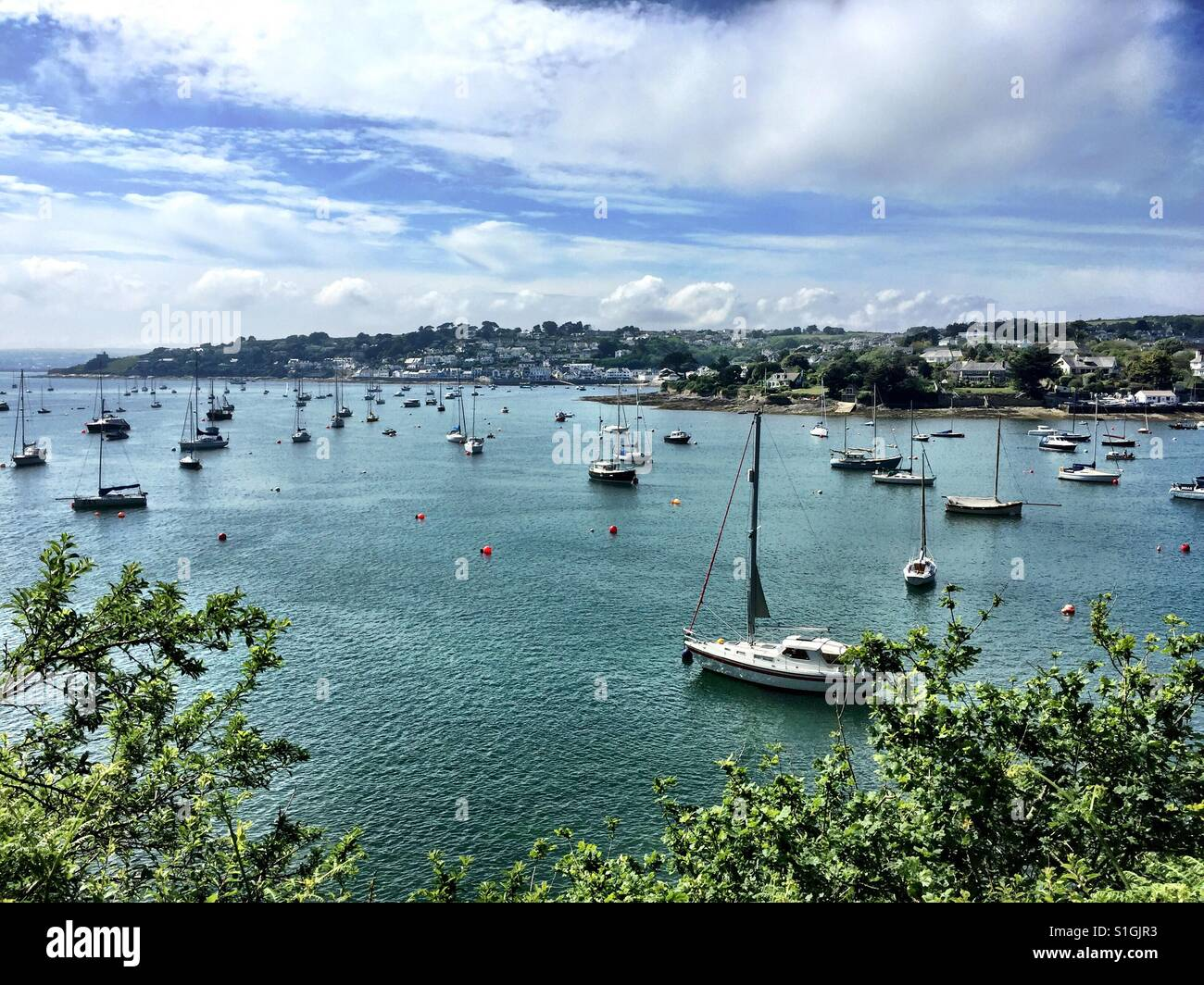 The view from Place looking to St Mawes in Cornwall. Beautiful part of the world. - Stock Image