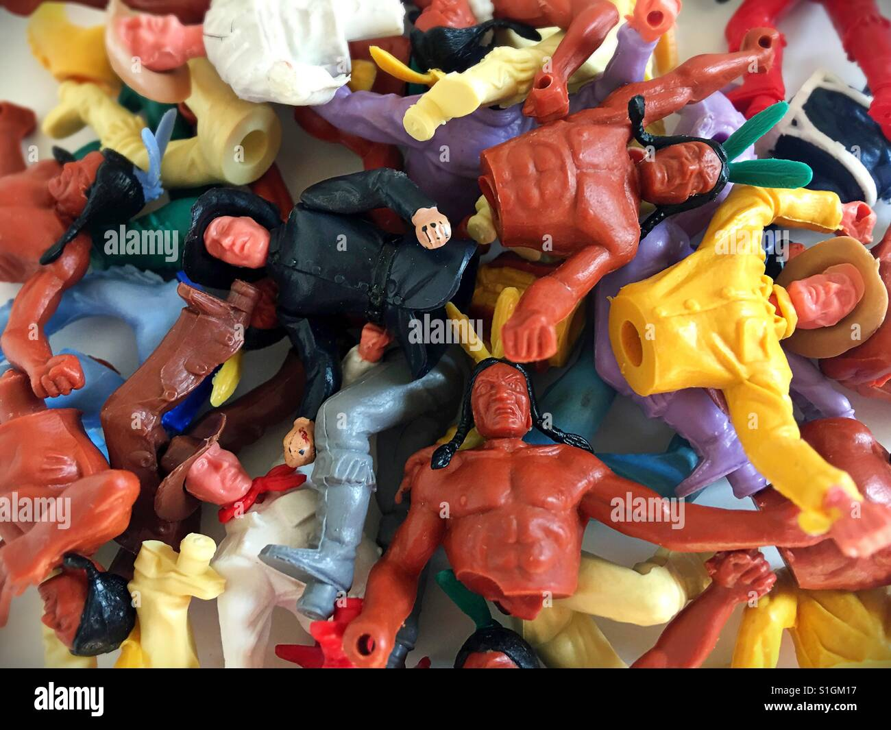 Vintage Plastic Toys Stock Photos & Vintage Plastic Toys Stock