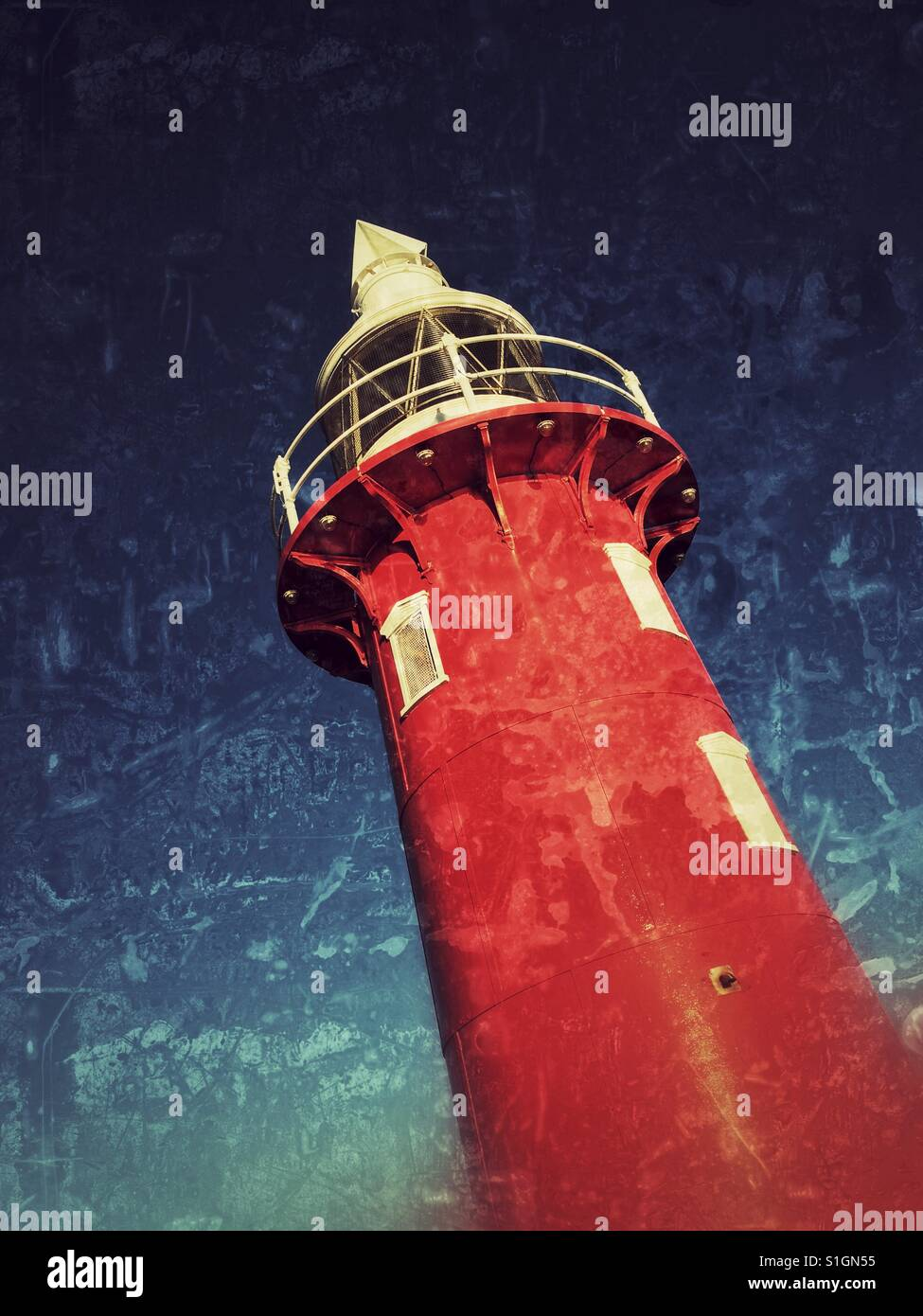 Lighthouse at Fremantle Port - Stock Image