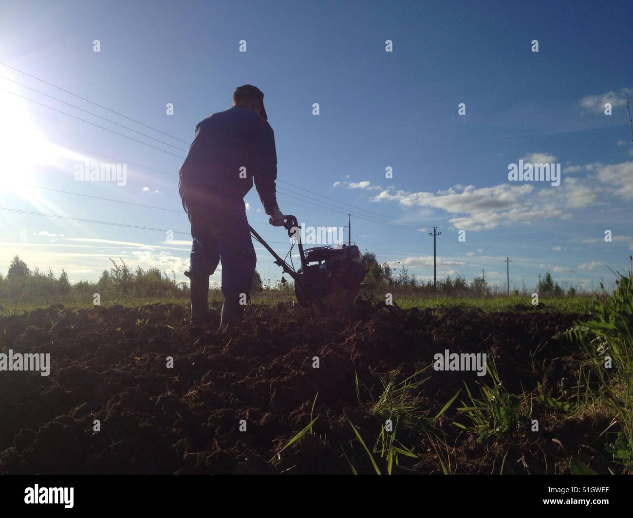 Cultivate the land - Stock Image