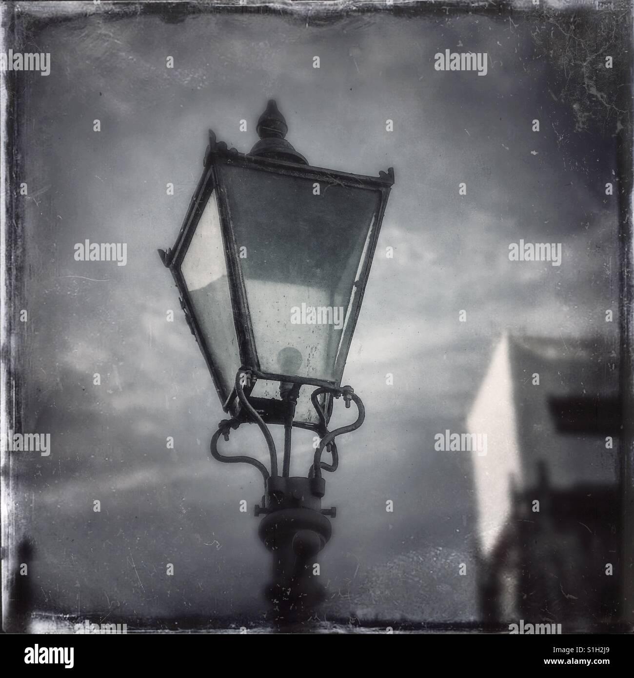 Old streetlamp - Digitally enhanced - Stock Image