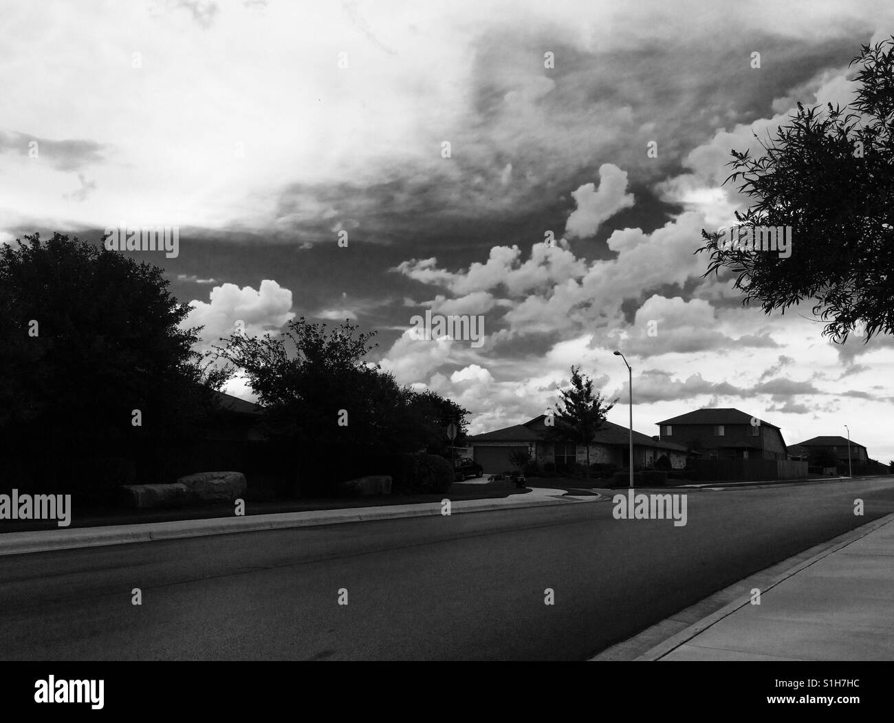 Black and white clouds - Stock Image