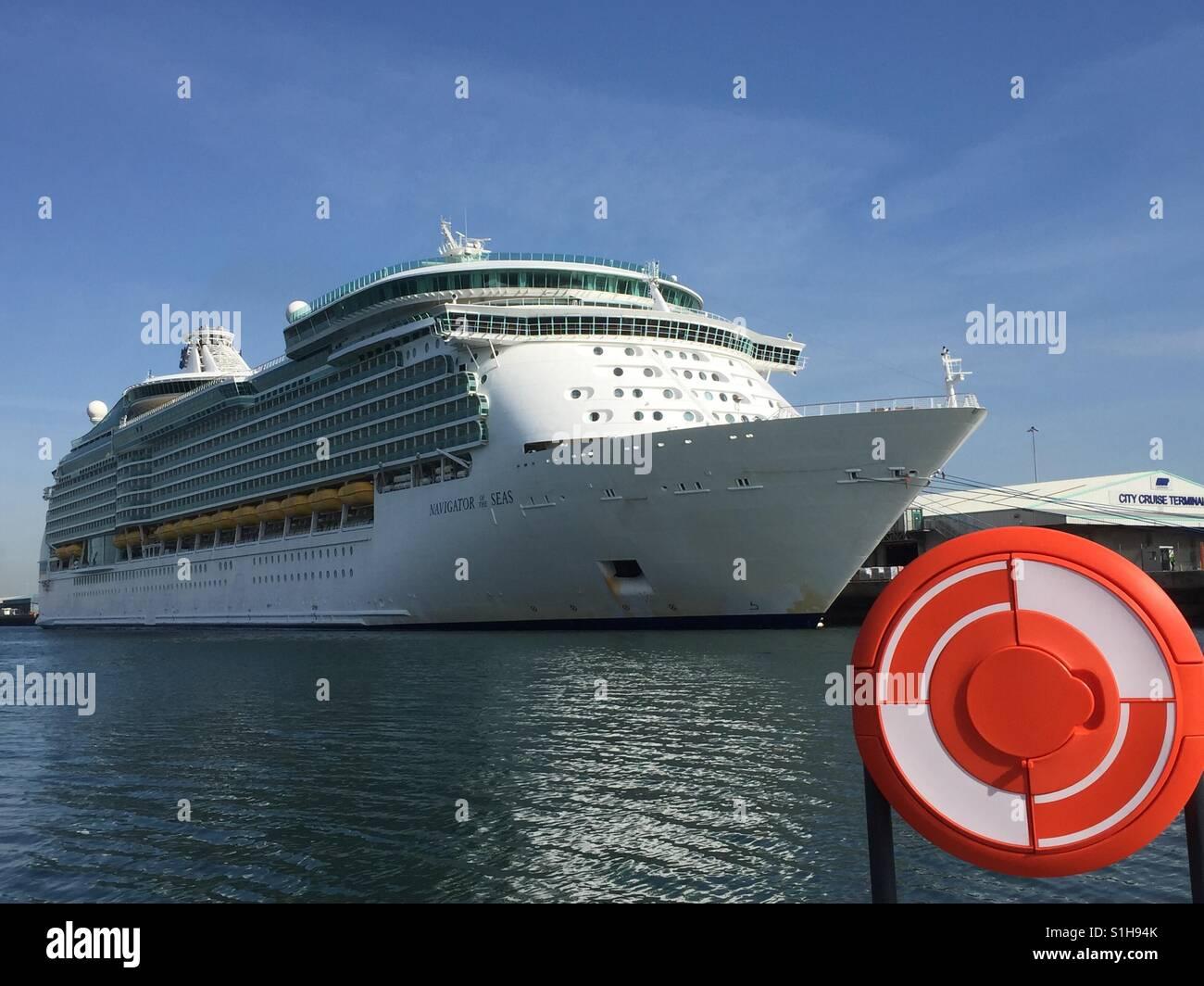 Navigator of the Seas cruise ship Stock Photo