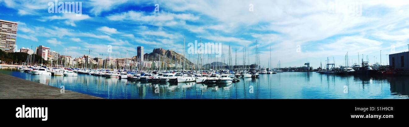 Alicante port panorama - Stock Image
