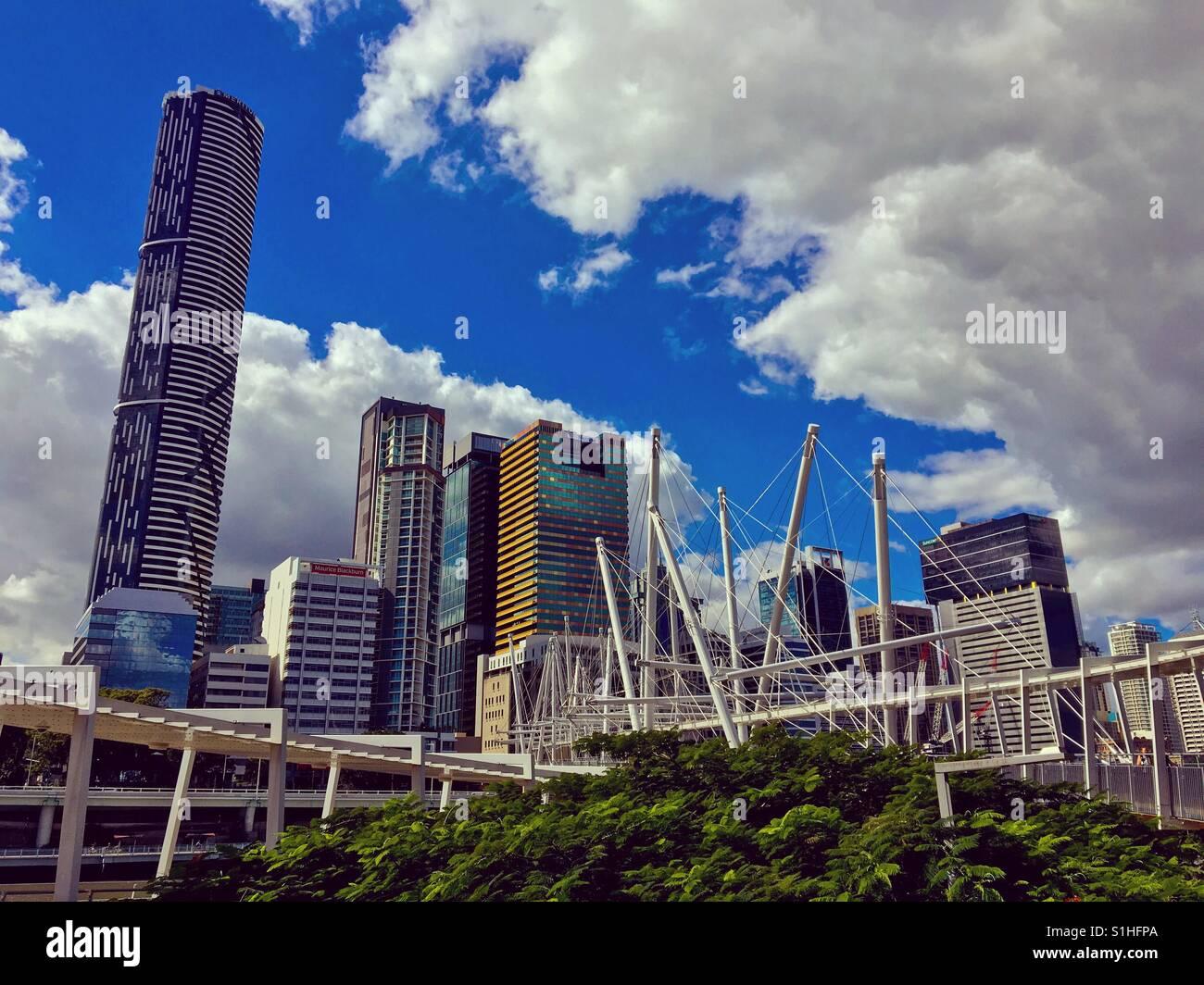Brisbane skyline Queensland Australia - Stock Image