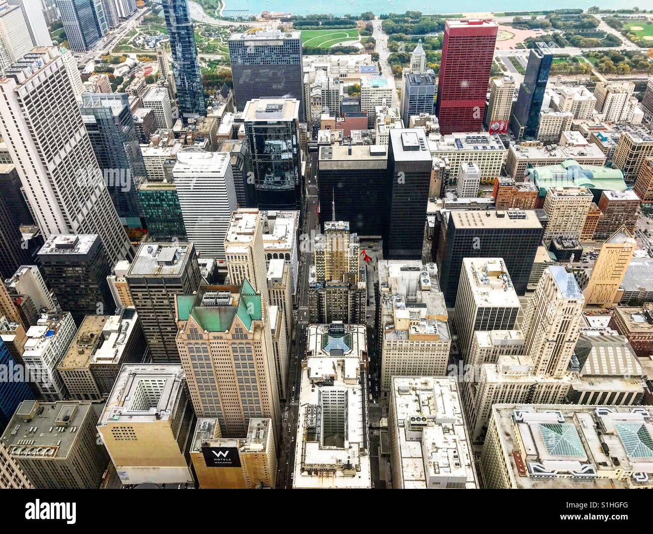 Chicago from above - Stock Image