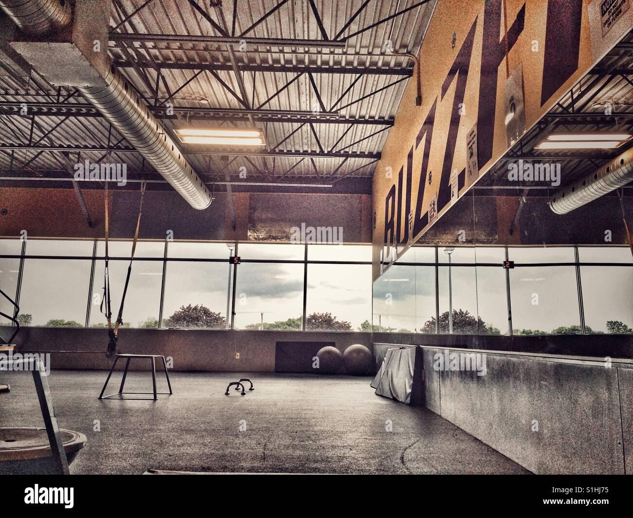 Empty gym - Stock Image
