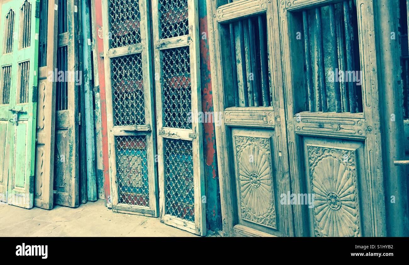 Old doors - Stock Image