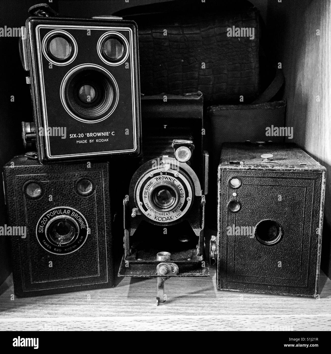Vintage camera collection - Stock Image