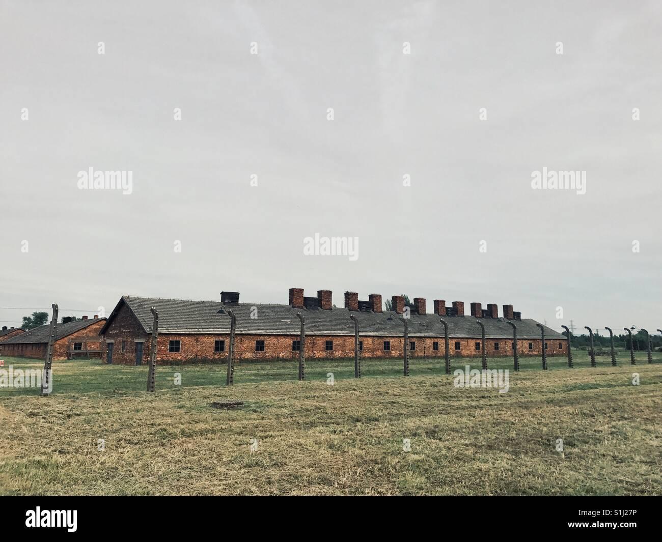 Birkenau Oswiecim Poland extermination camp - Stock Image