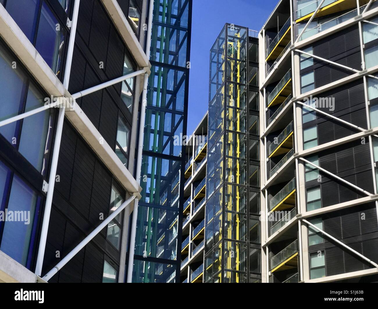 Apartments building in the riverligh development at Nine Elms in west London - Stock Image