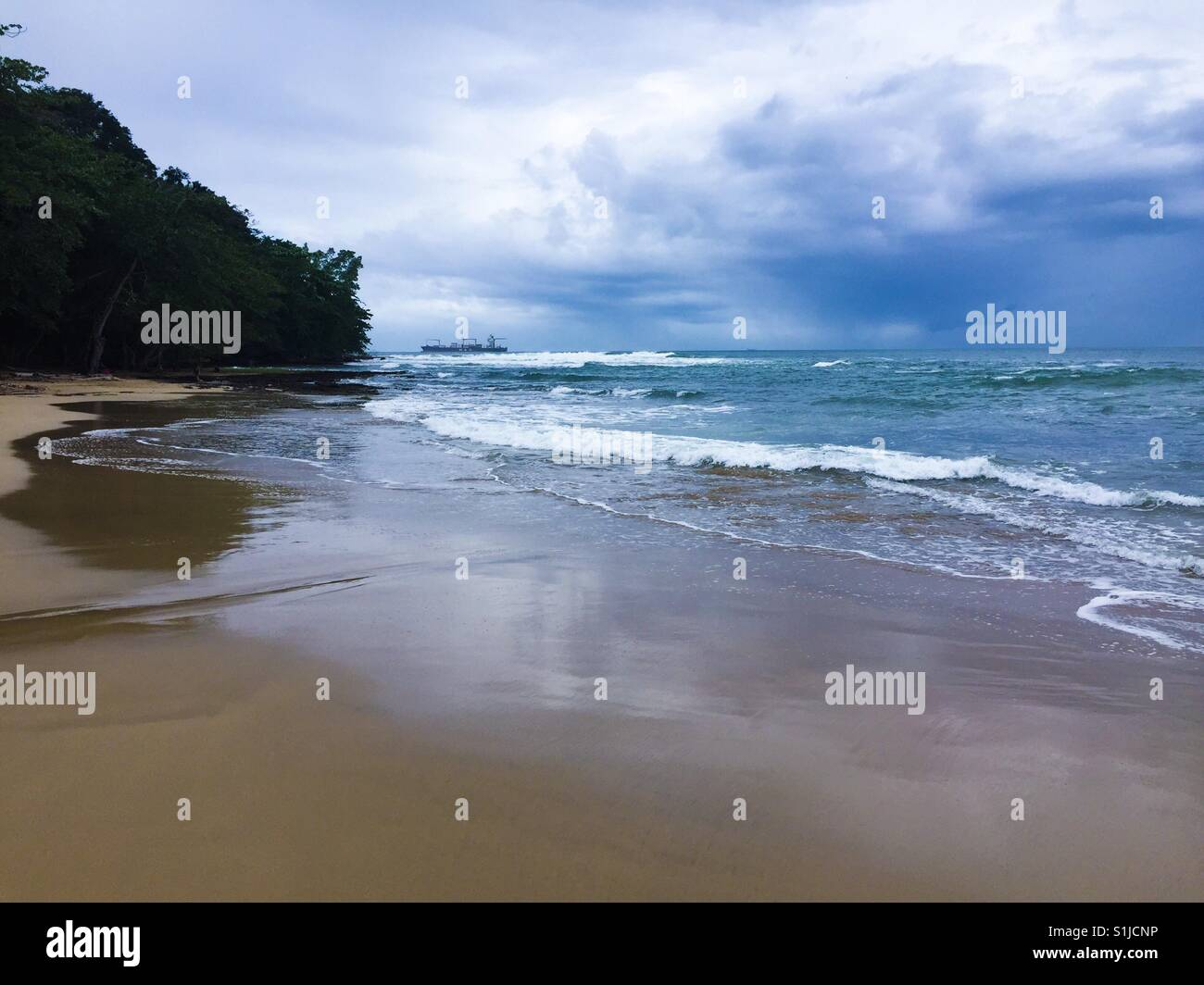 Lonely beach - Stock Image
