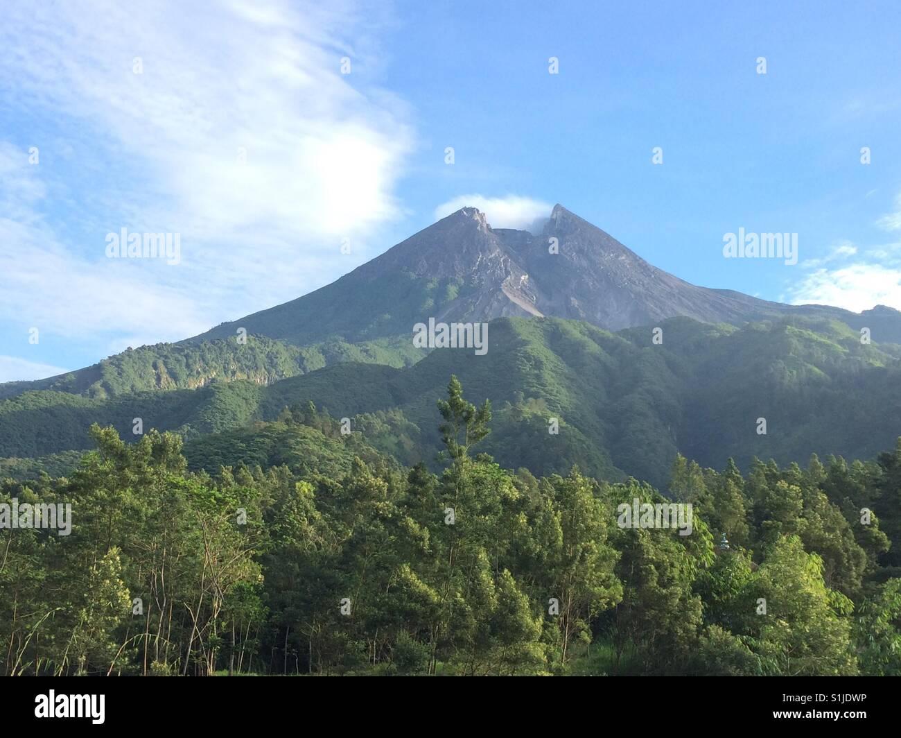 Merapi volcano - Stock Image