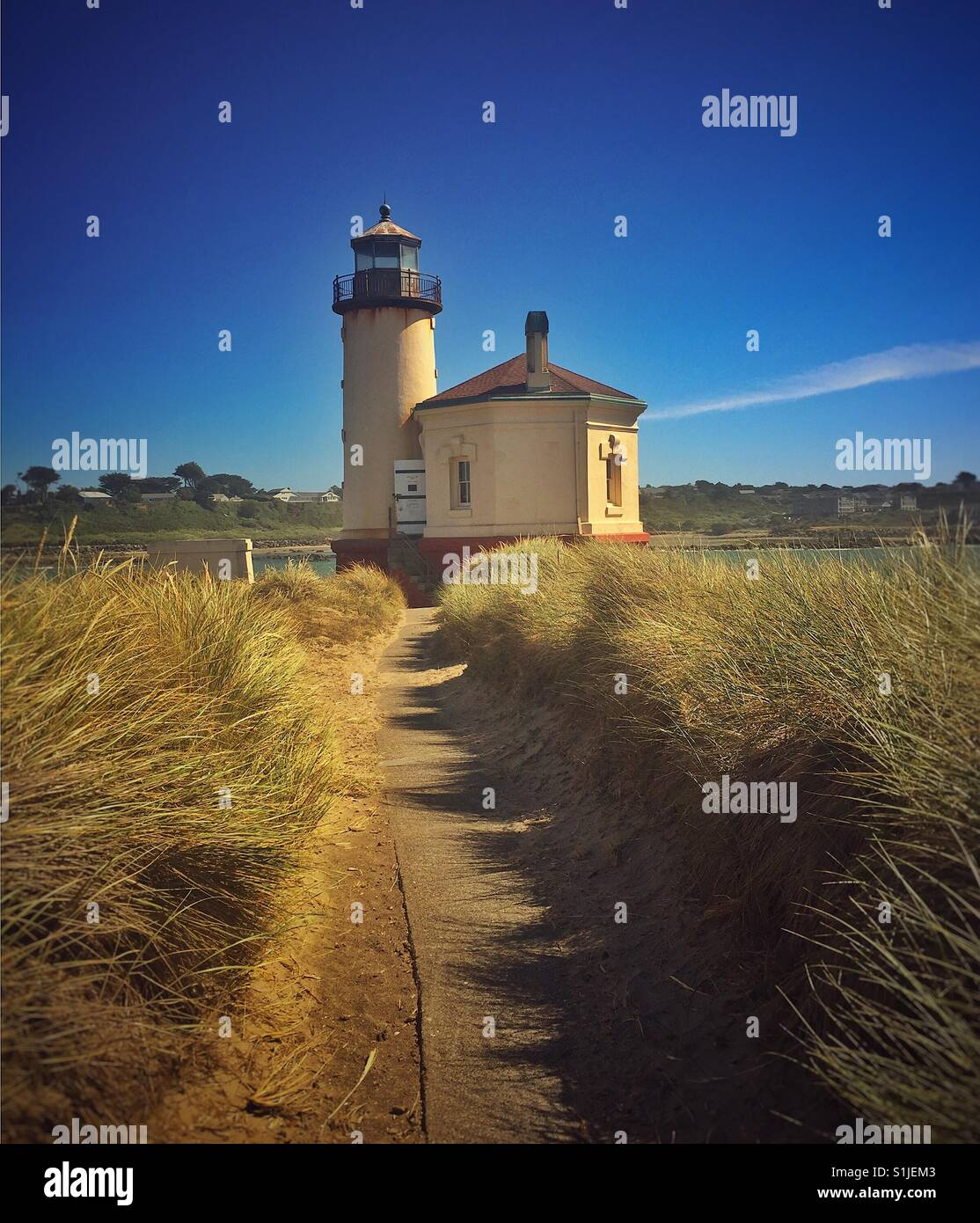 Coquille River Lighthouse - Stock Image