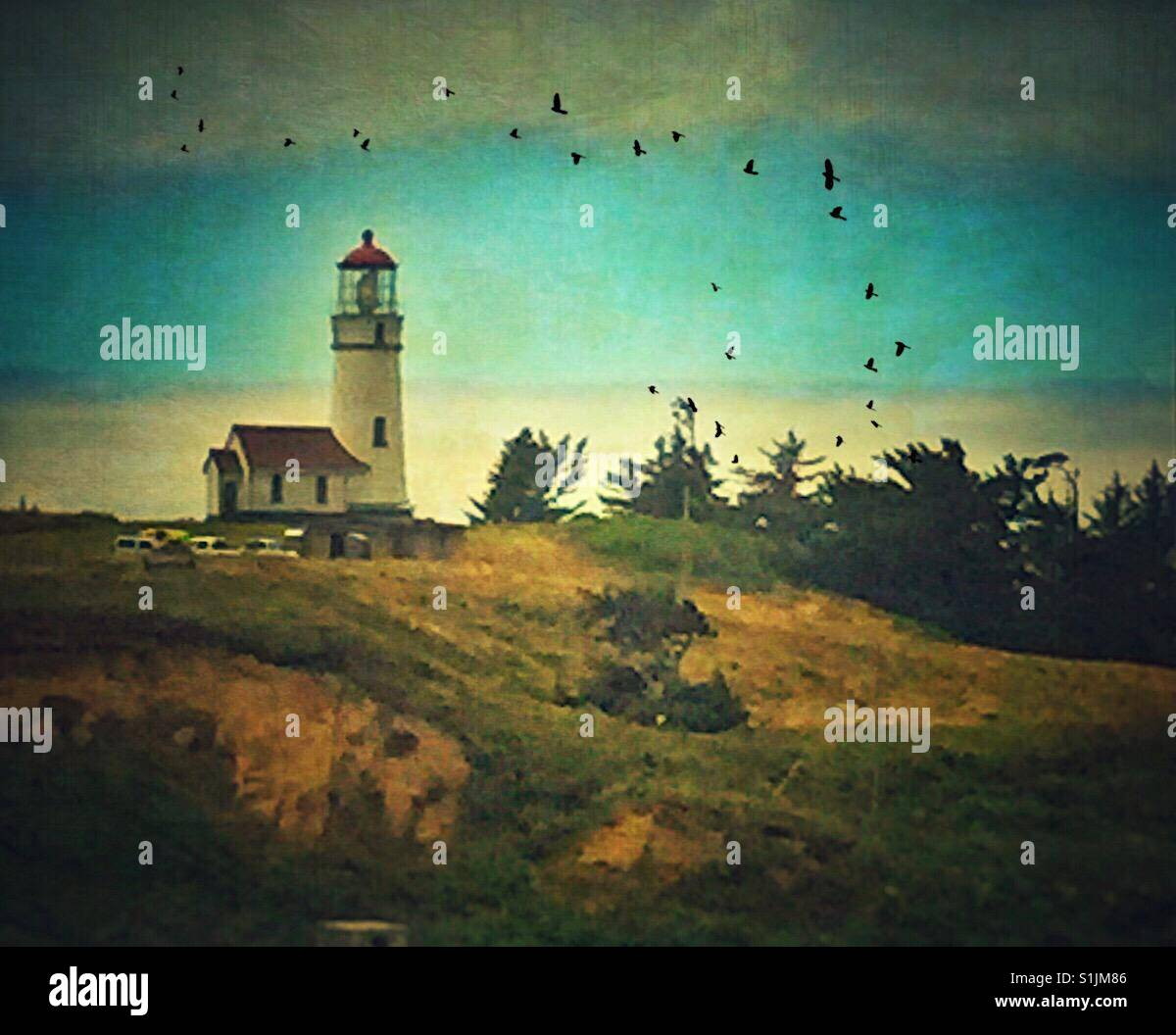 Cape Blanco Lighthouse - Stock Image