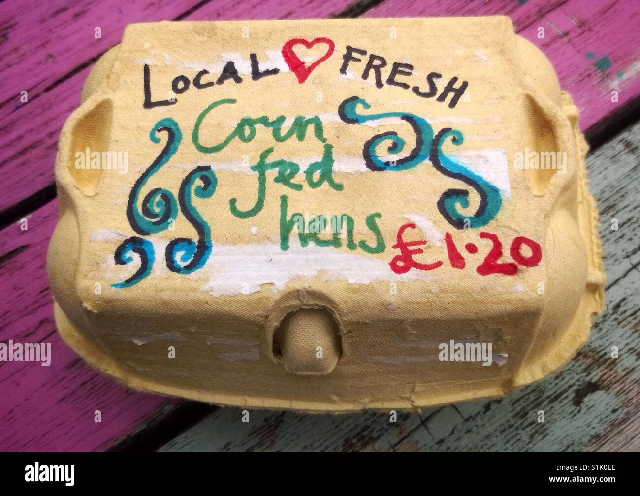 Shopping Local Farm Fresh Eggs Stock Photo 310818774 Alamy