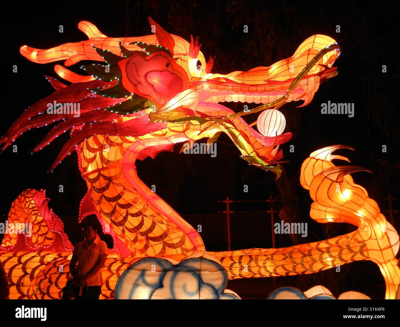 Light of Dragon - Stock Image