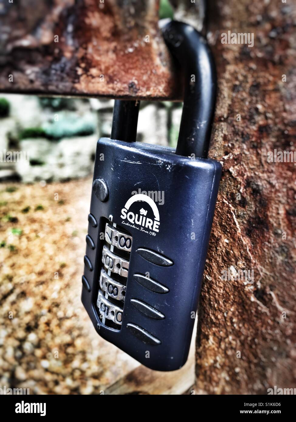 Squire combination padlock - Stock Image