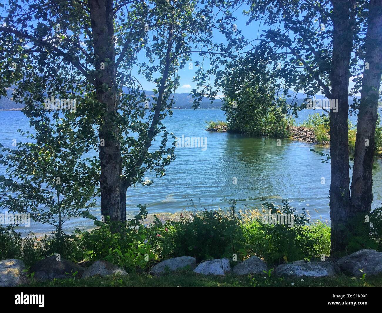 Lake in north Idaho. - Stock Image